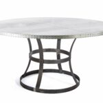 custom zinc table dining madera steel ring round accent made top pottery barn floor lamp replacement parts grey marble concrete unfinished base mid century modern furniture end 150x150