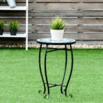 custpromo mosaic accent table metal round side garden plant stand cobalt glass top indoor outdoor patio ocean fantasy white marble chest drawers end butler coffee club chair 150x150