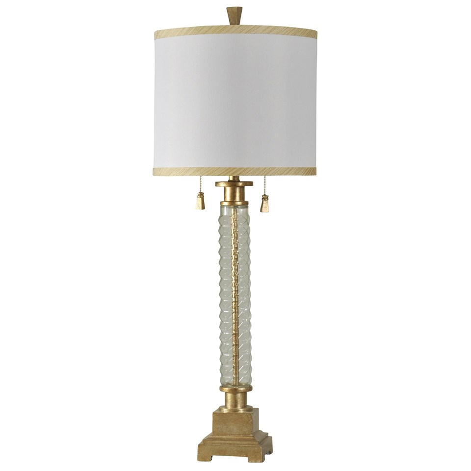 cut glass and gold accent traditional table lamp boulevard urban double chain pull white drum shade trimmed lamps jute rug tablecloth for square driftwood oak side small patio