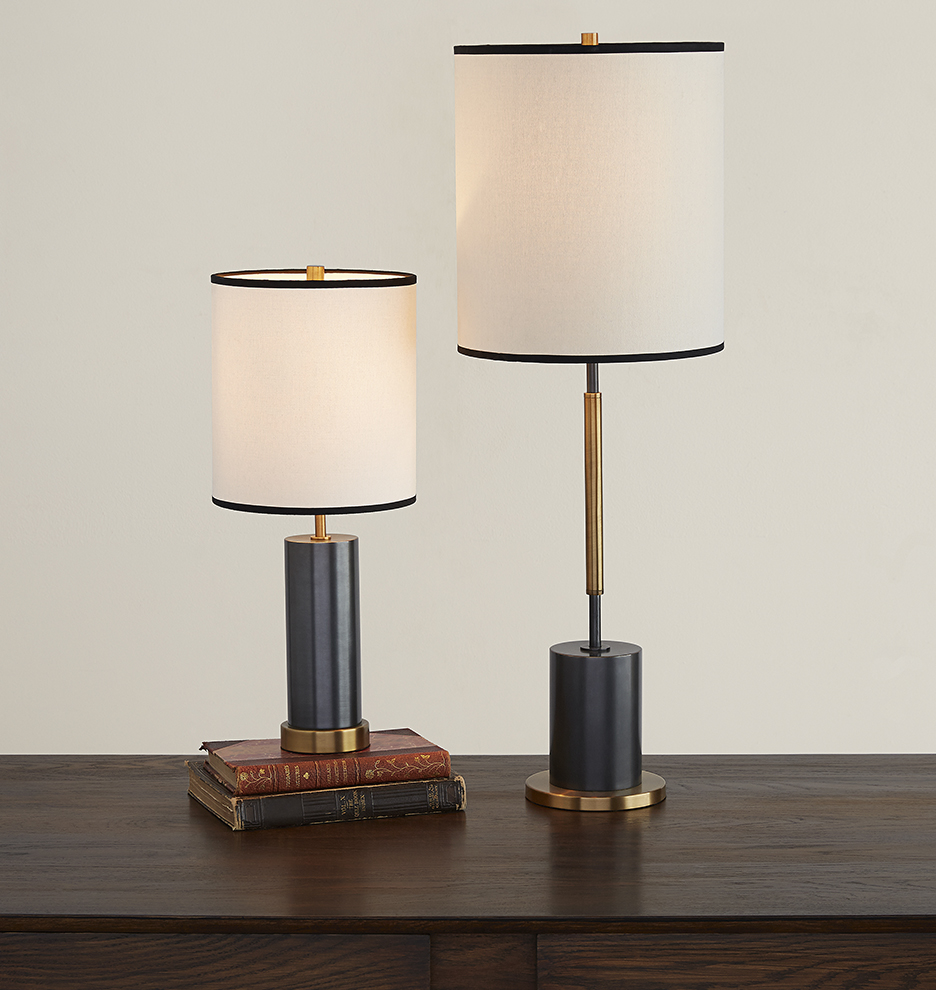 cylinder accent table lamp rejuvenation lighting nesting tables mirrored console with drawers white wood nightstand yellow retro sofa elm flooring urban loft furniture tall round