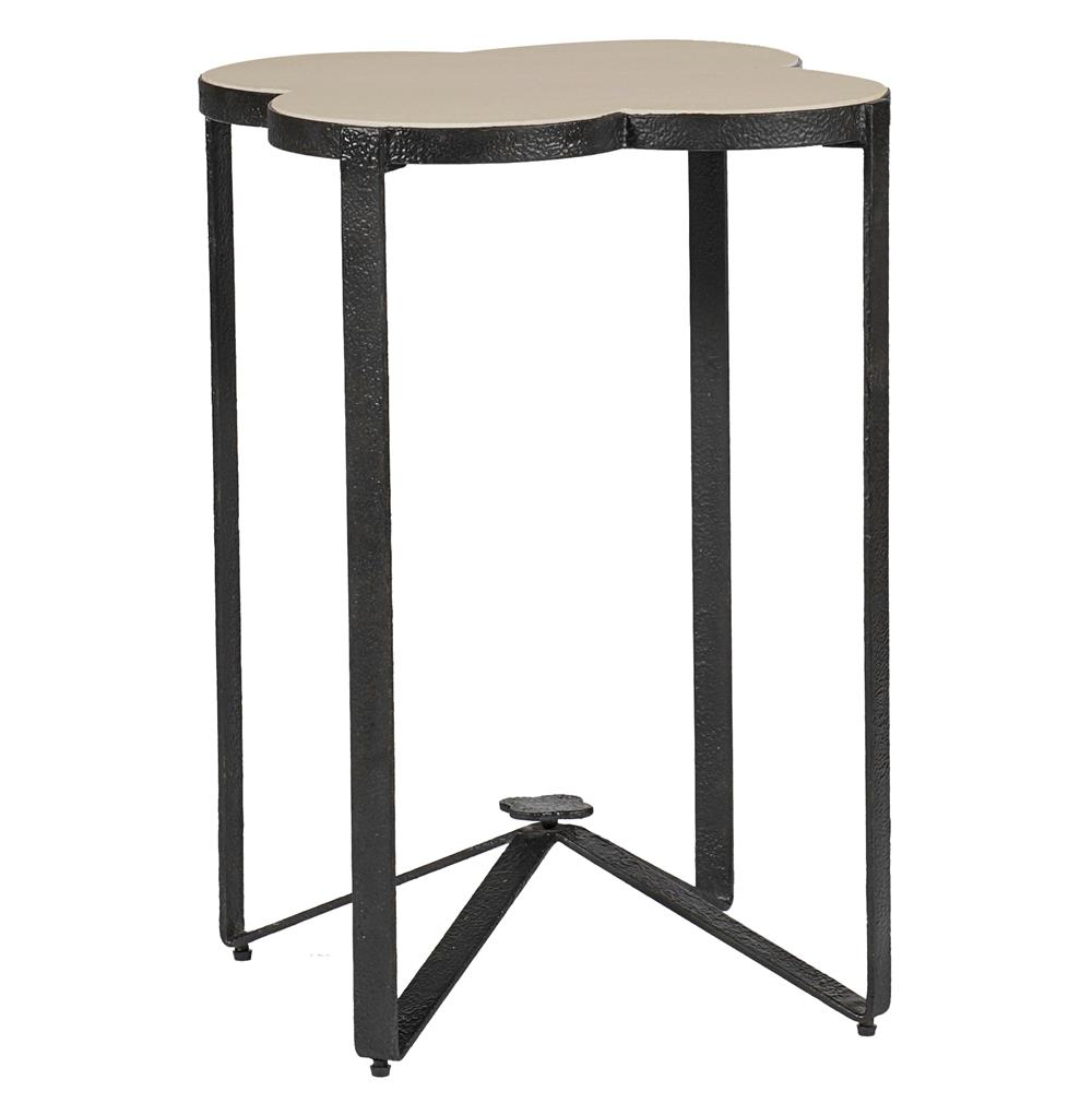 cynthia modern classic quatrefoil limestone iron accent end table product kathy kuo home black metal outdoor side wall west elm industrial storage console grey bedside lights