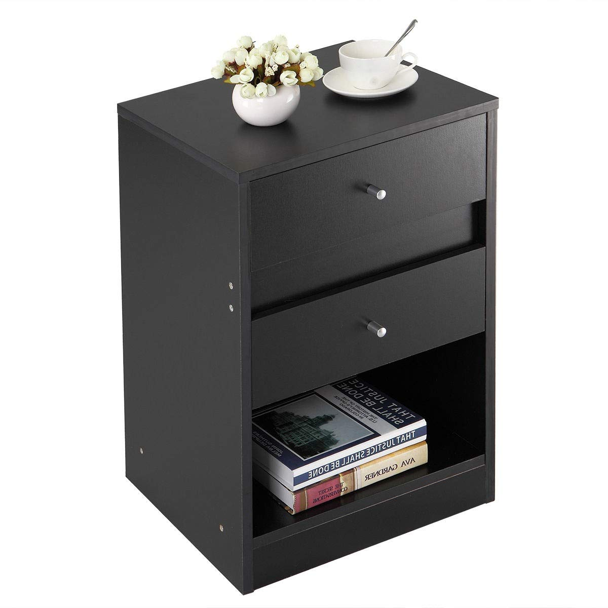 cypress nightstand side table end cabinet drawers wtl winsome ava accent with drawer black finish desk bedroom home furniture kitchen dining day outdoor cover marble glass top