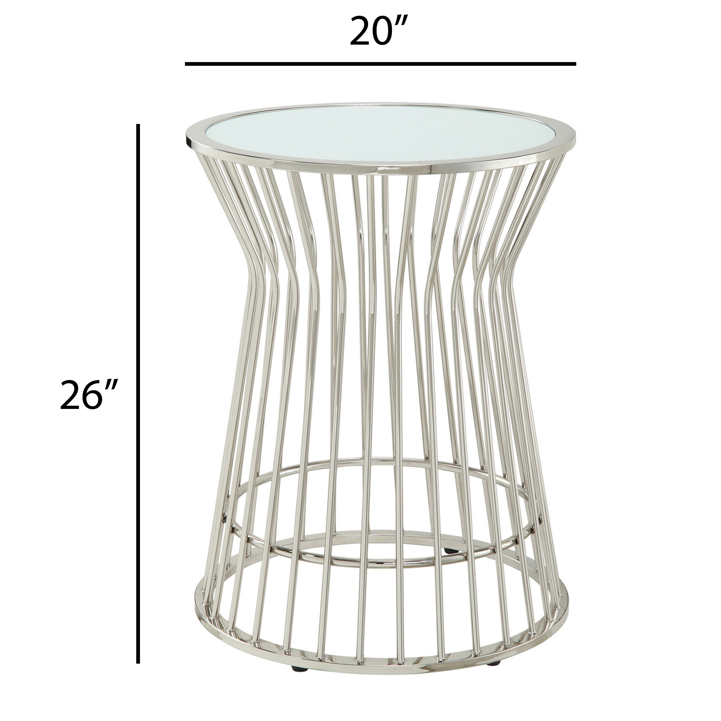 cyril contemporary glam metal frosted glass drum accent table inspire bold free shipping today heaters kohls lamps diy outdoor furniture plans clearance dining sets white and gold