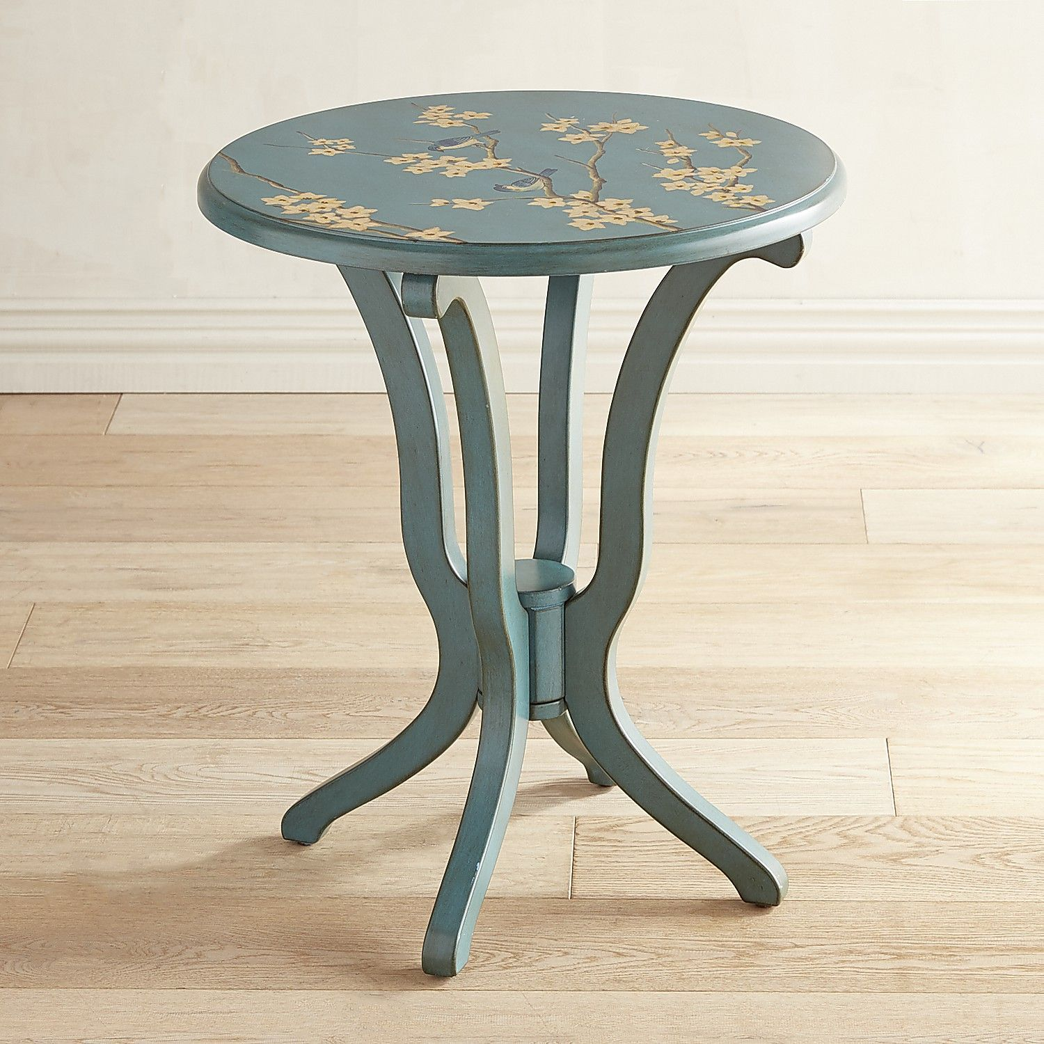 daffodil peach blossom blue accent table products metal blossoms and carpet tile edging strip perspex bedside counter height pub sofa small with drawers drink cooler modern brass