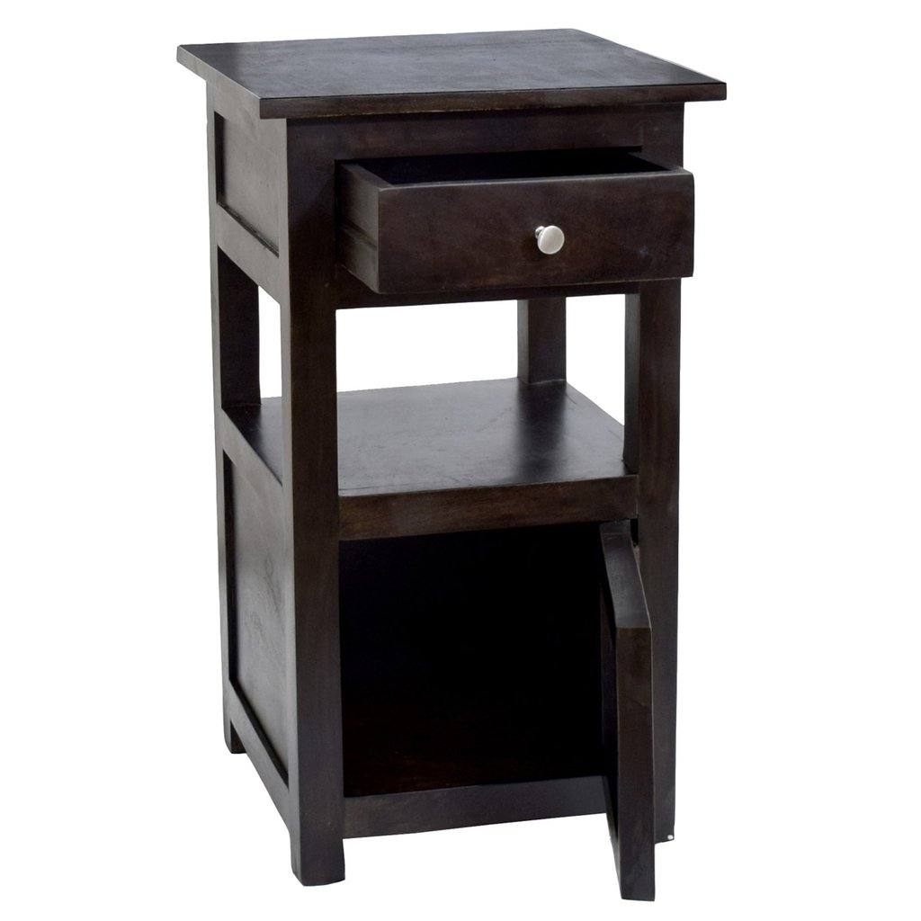 daintree sheesham wood draw door tanya side end corner accent other table black timbertaste dark walnut finish counter height kitchen cabinet large patio cover reclaimed doors
