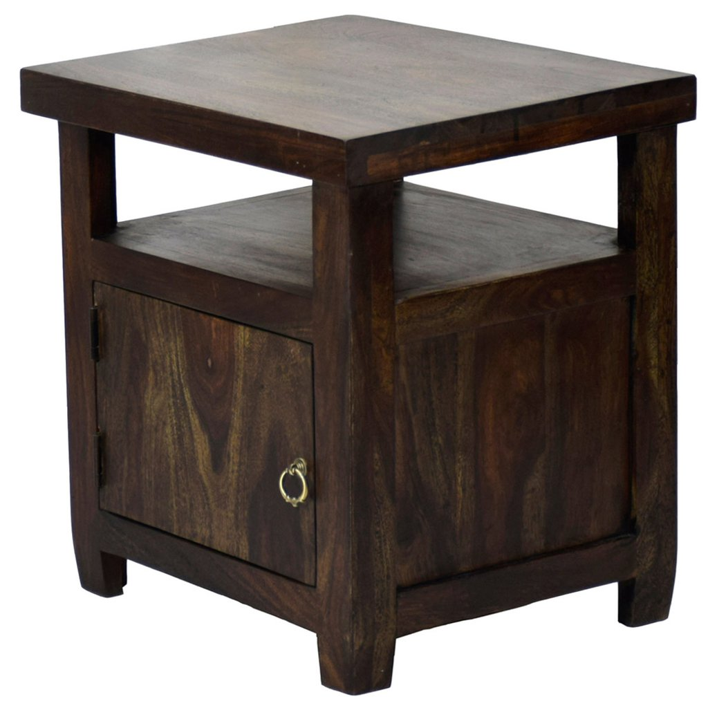 daintree solid sheesham wood abhay side table dark walnut finish other accent timbertaste end corner black drop leaf and chairs mirror coffee boss furniture home wall decor bar