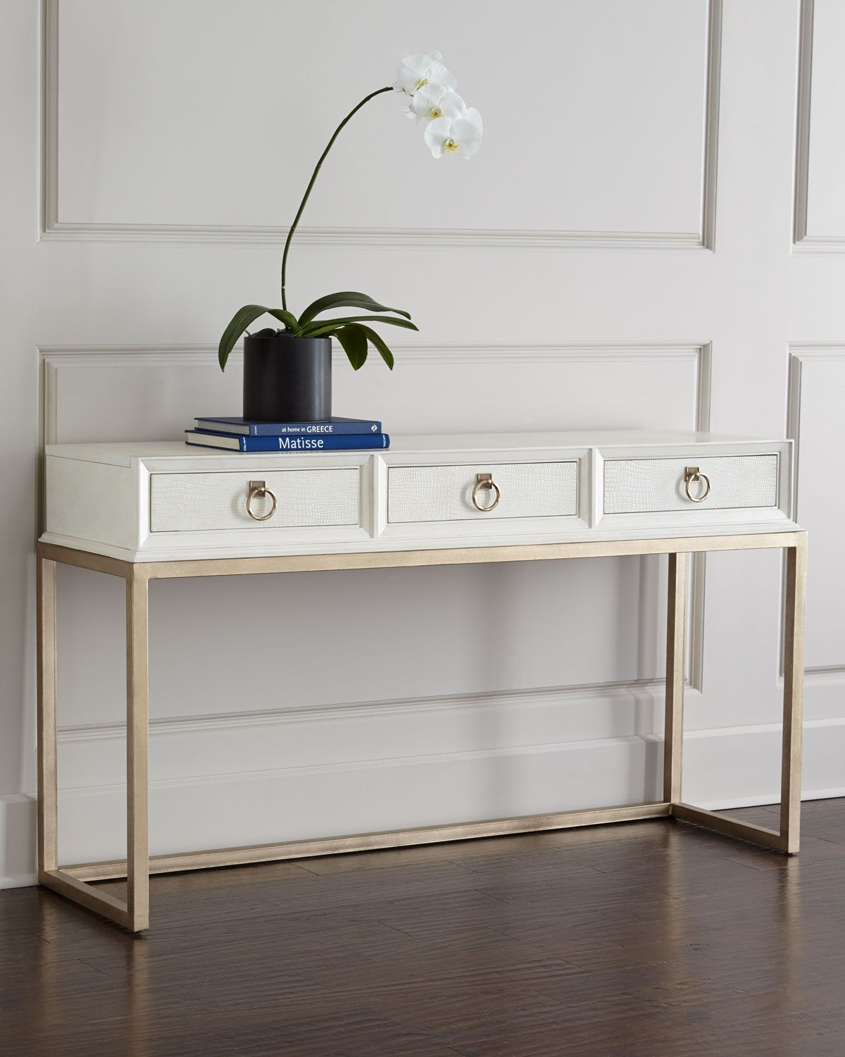 daisy console horchow copy cat chic gallerie hayden white lacquer accent table decorating entryway bath and beyond floor lamps asian style retro bedroom furniture marble top