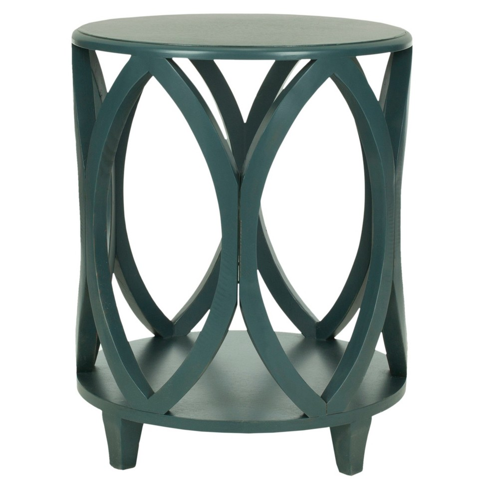 dakota accent table teal blue safavieh products console with shelves and drawers american drew furniture pendant lighting counter height bar piece patio dining set white curtains