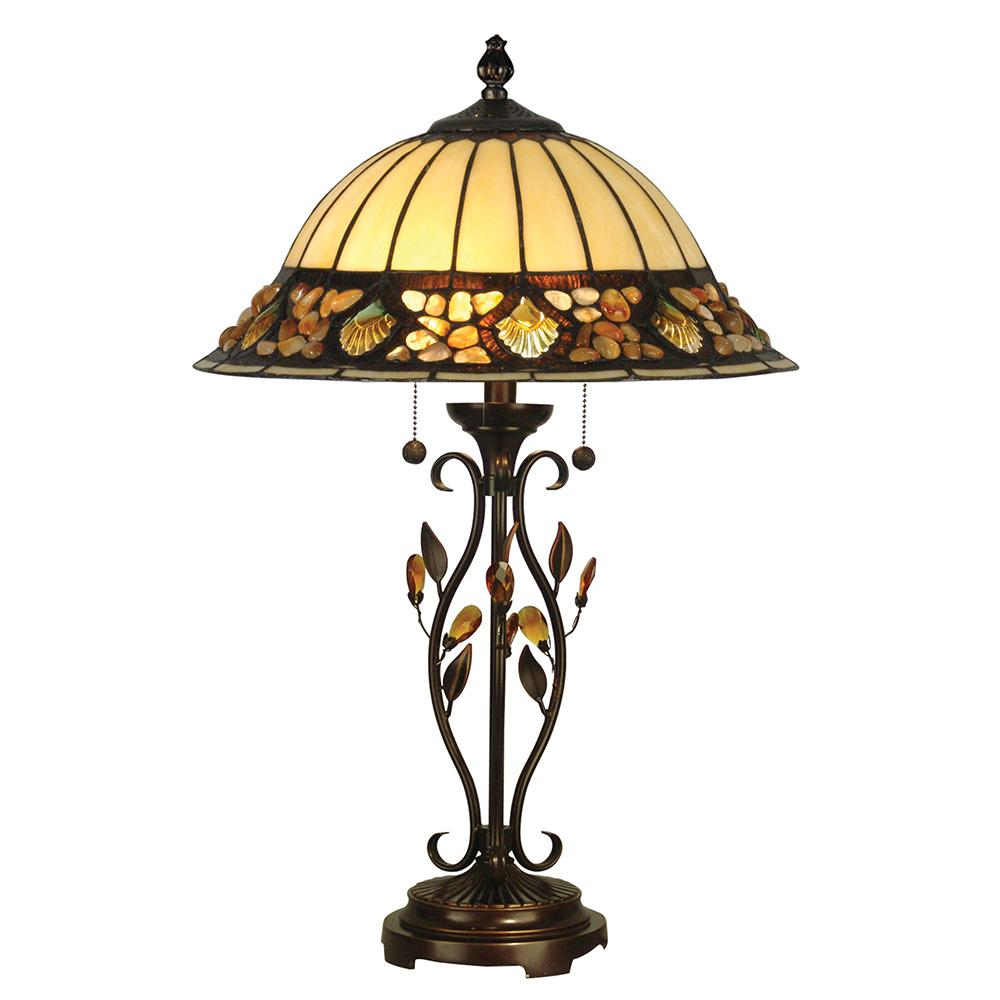 dale tiffany antique golden sand pebblestone table lamp with lamps accent art glass shade iron and grey wood dining rhinestone high end designer office cupboard brass for living