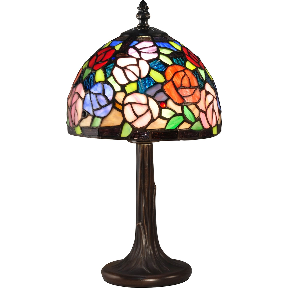 dale tiffany carnation mini accent lamp table lamps home foyer cabinet valance curtains small entryway dark brown hampton bay outdoor dining set pottery barn wood desk white