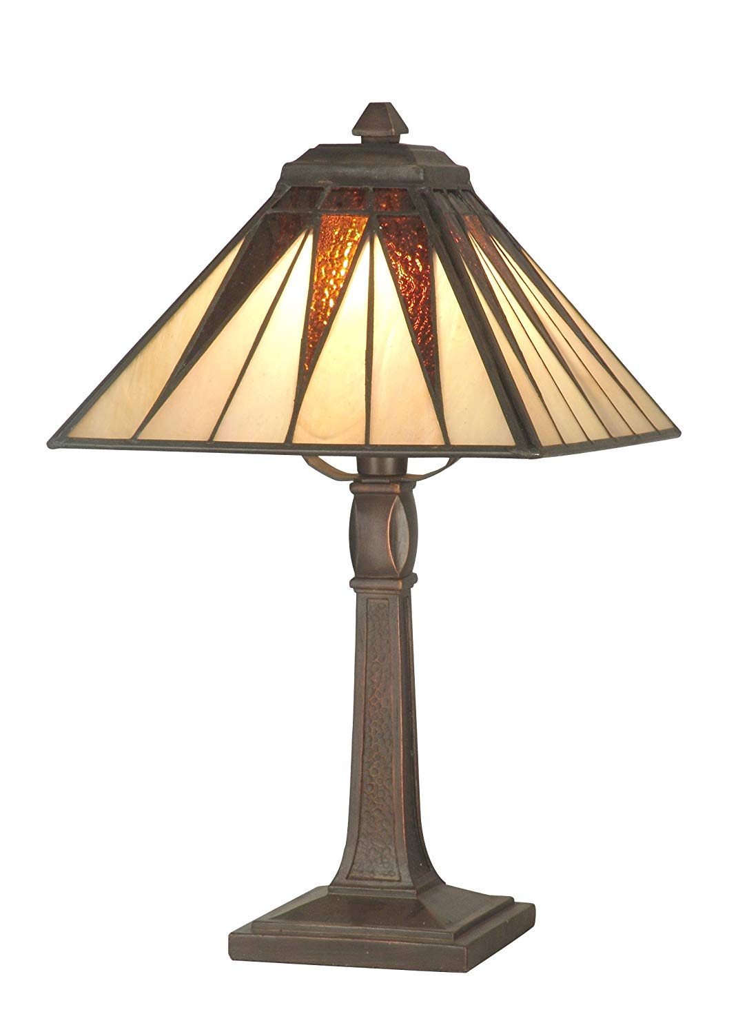 dale tiffany cooper accent lamp antique bronze and art table lamps glass shade cherry end tables queen anne walnut bedside plastic garden furniture inexpensive for living room