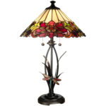 dale tiffany floral table lamp with dragonfly accent lamps handmade runner decorative accessories for dining room modern teak outdoor furniture office cupboard tool chest wheels 150x150