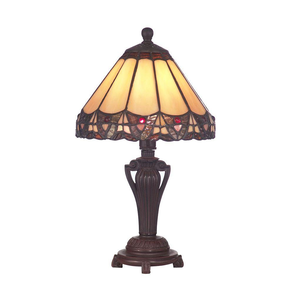 dale tiffany peacock antique bronze accent lamp table lamps brass for living room target windsor chair brown wicker patio furniture hollywood mirror cabinet office cupboard seat