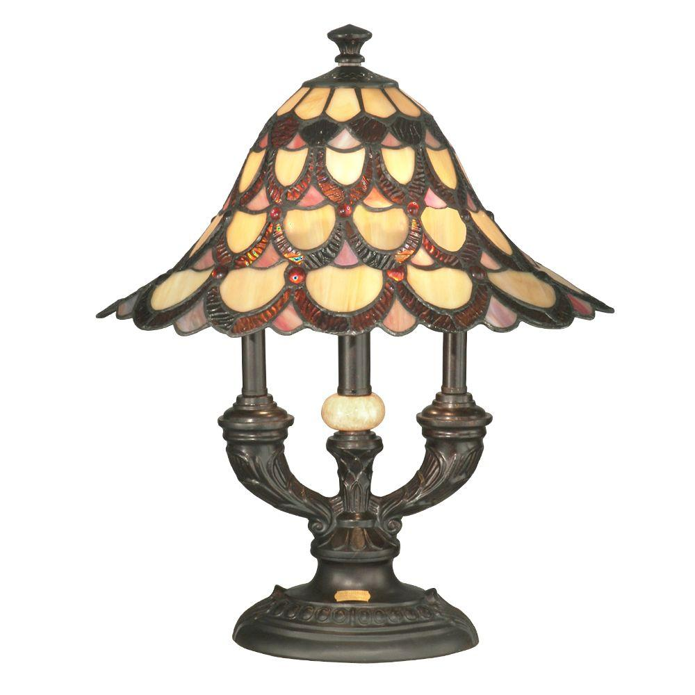 dale tiffany peacock antique bronze table lamp the lamps accent small round silver side sheesham and chairs handmade runner tool chest wheels grey wood dining ethan allen oval