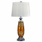 dale tiffany polished chrome one light inch table lamp accent lamps hover zoom office cupboard coffee end tables ikea living room sets small round silver side outdoor wicker with 150x150