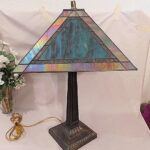dale tiffany table lamp bronze base turquoise slag iridescent accent lamps accents high end designer outdoor wicker coffee with glass top round tables rhinestone handmade runner 150x150