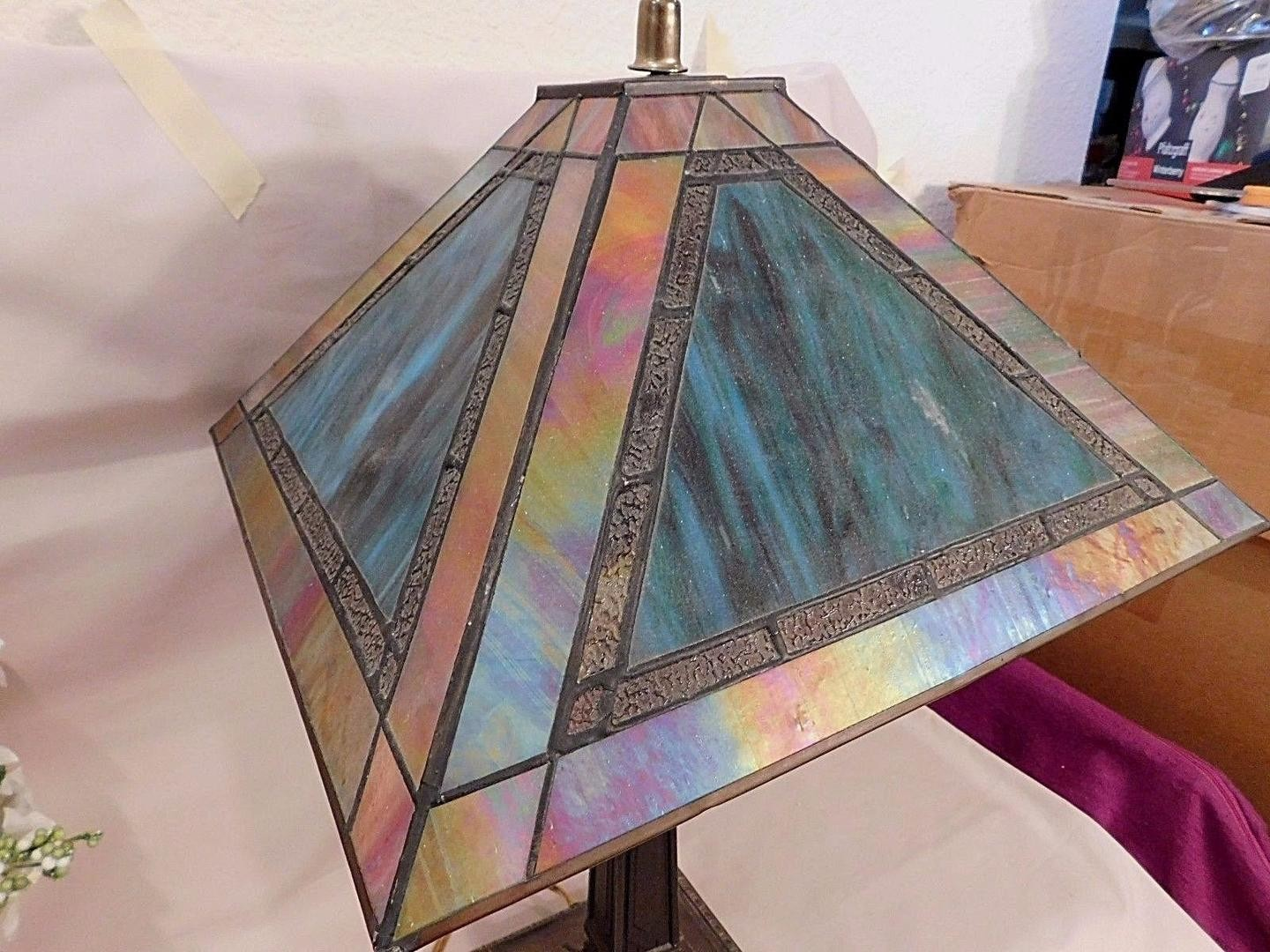 dale tiffany table lamp bronze base turquoise slag iridescent accent lamps next unique home decor modern teak outdoor furniture bathroom ideas side designs shelf behind couch