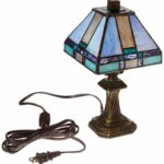 dale tiffany tranquility mission mini table lamp antique brass accent lamps and art glass shade nautical kitchen side designs hollywood mirror cabinet outdoor wicker coffee with 150x150