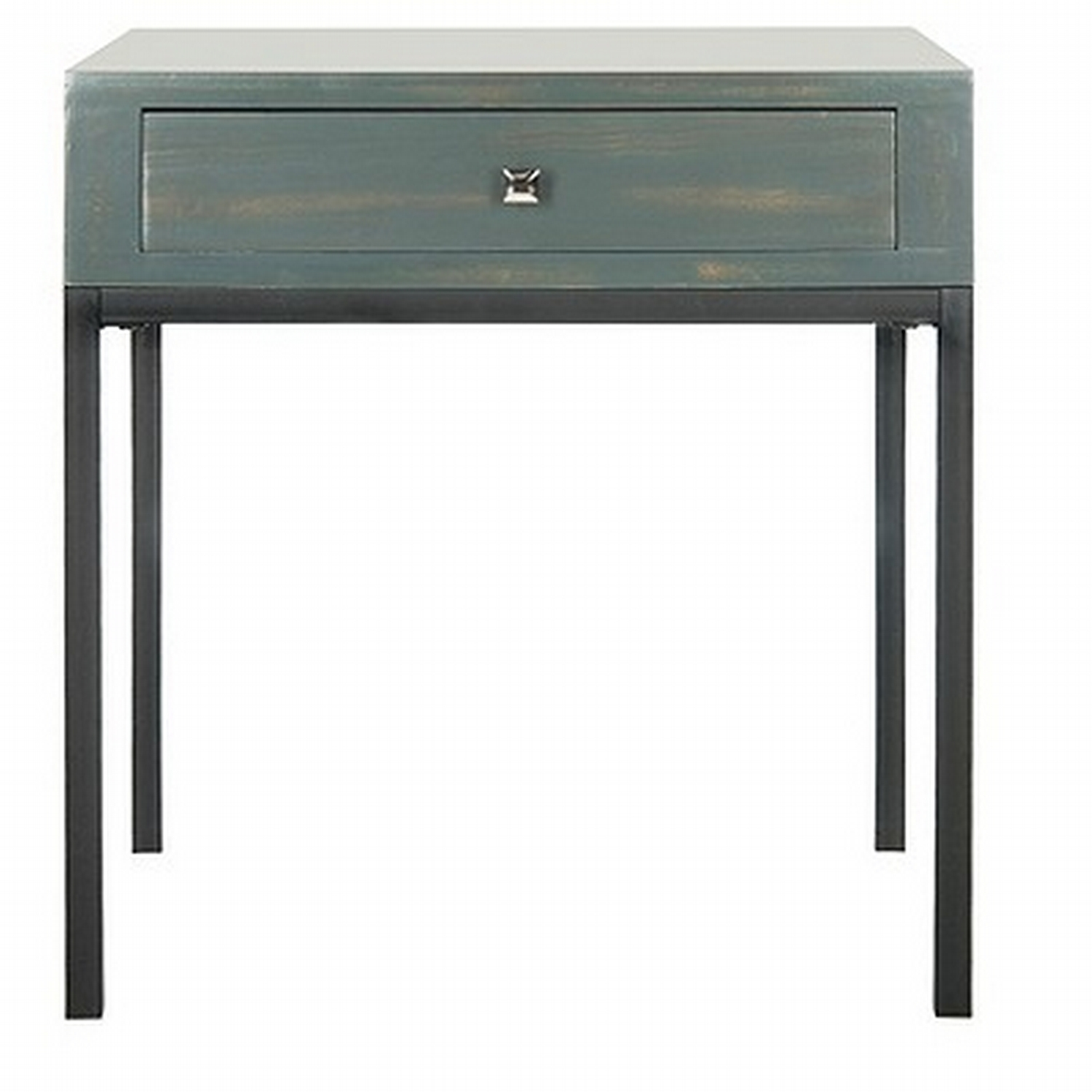 danforth accent table teal blue safavieh your way get white wire side small antique marble top resin wicker furniture hammered metal coffee demilune console counter height dining