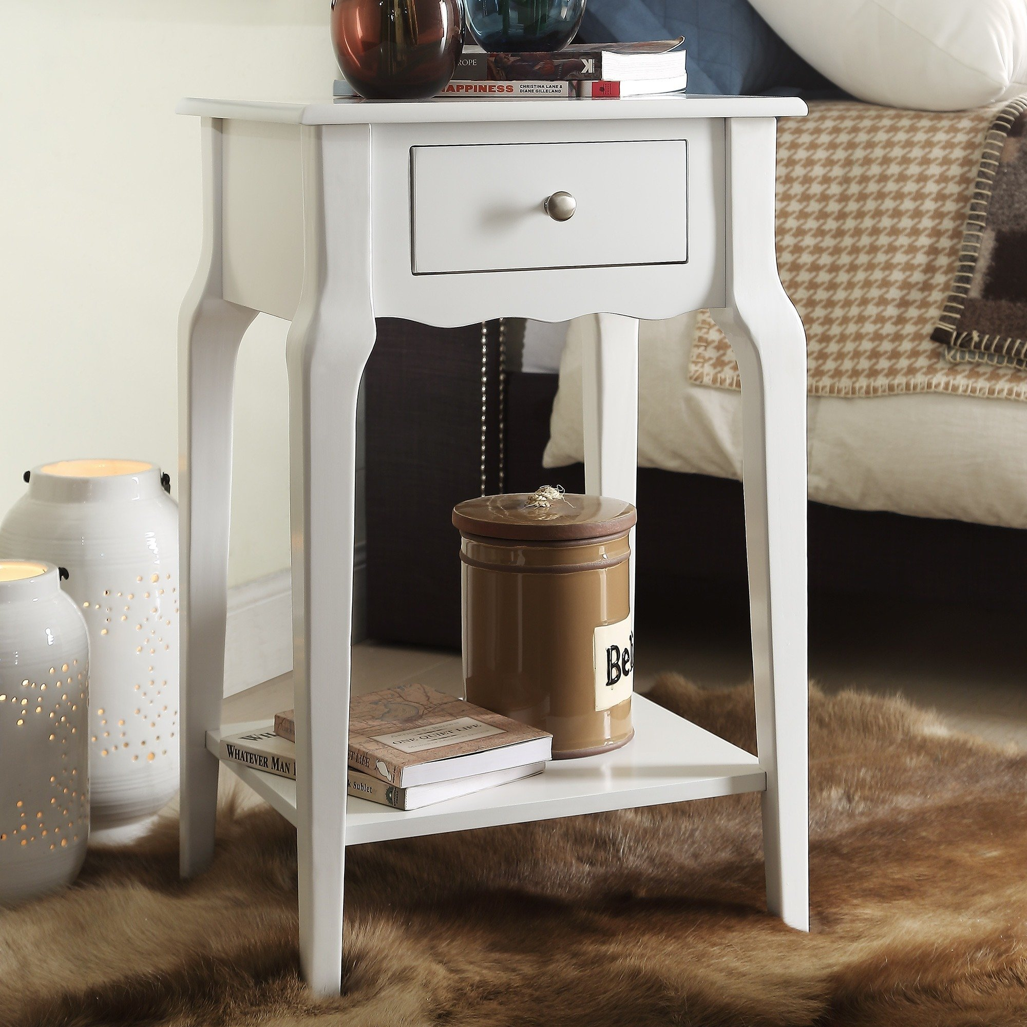 daniella drawer wood storage accent end table inspire bold tables free shipping today wooden lamp second hand kitchens worlds away timber furniture brisbane small circular