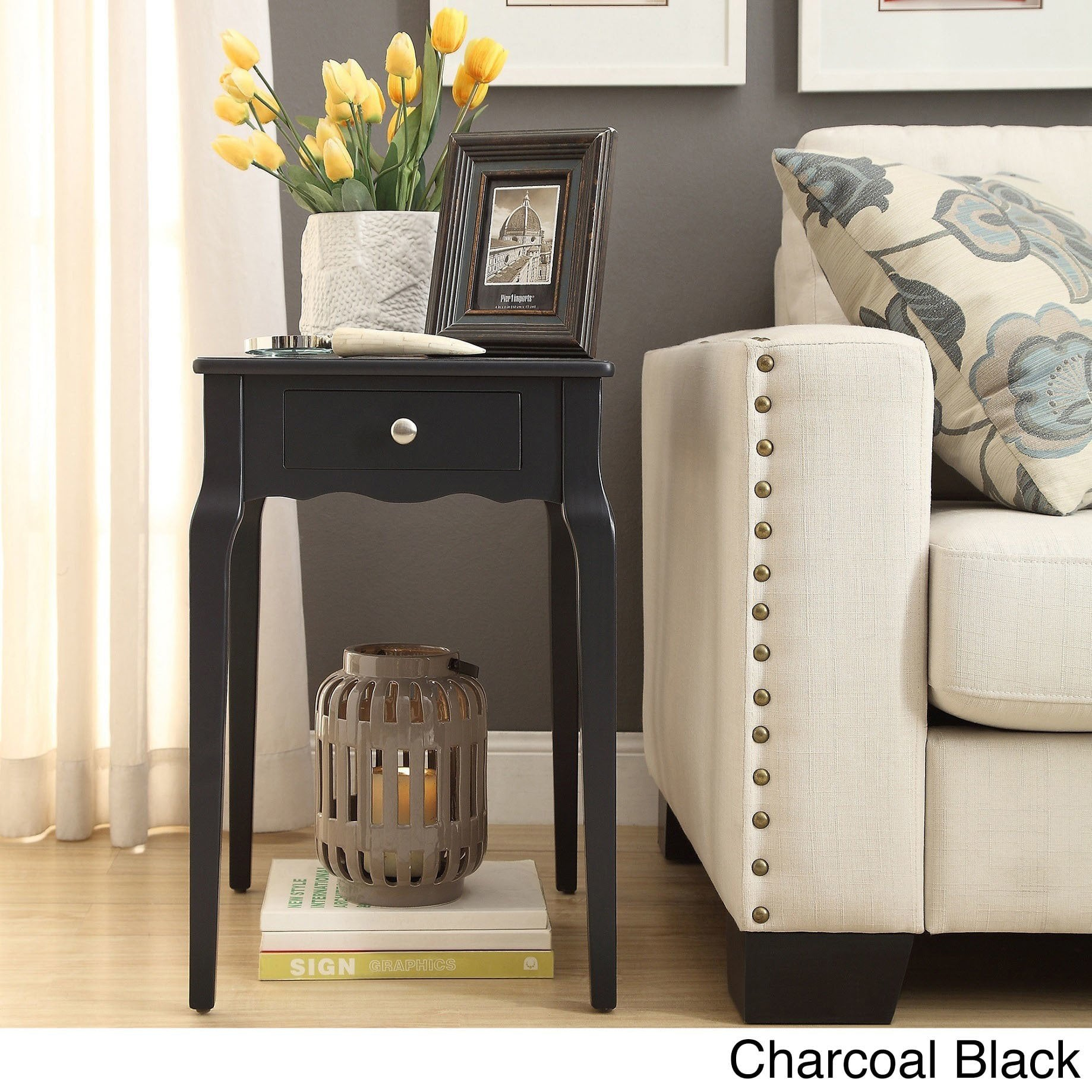 daniella drawer wood storage side table inspire bold accent single black room essentials free shipping today counter height with chairs pier one porch furniture antique glass