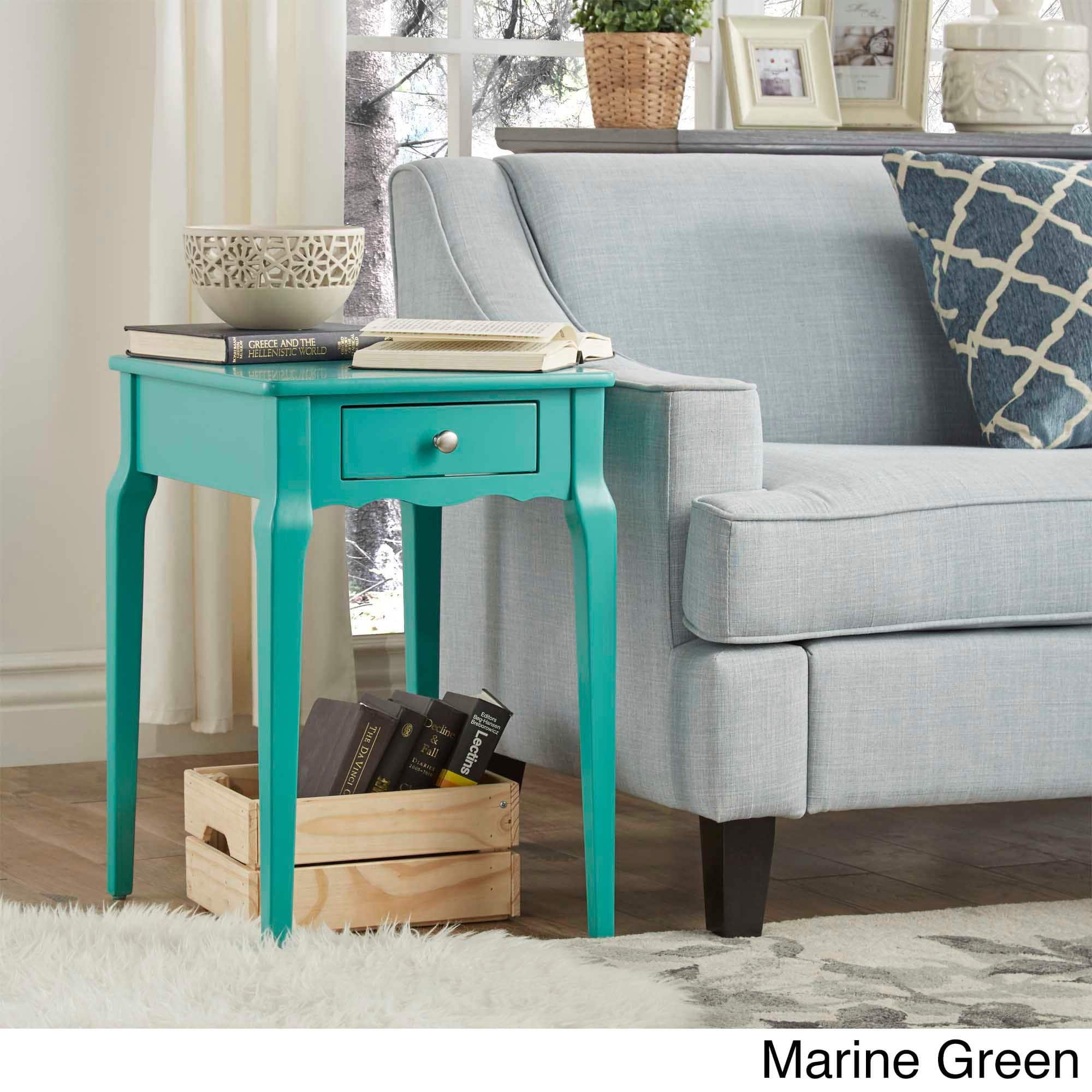 daniella drawer wood storage side table inspire bold accent single mint green free shipping today west elm glass floor lamp wine racks for home decor comfortable sofa pine bedside