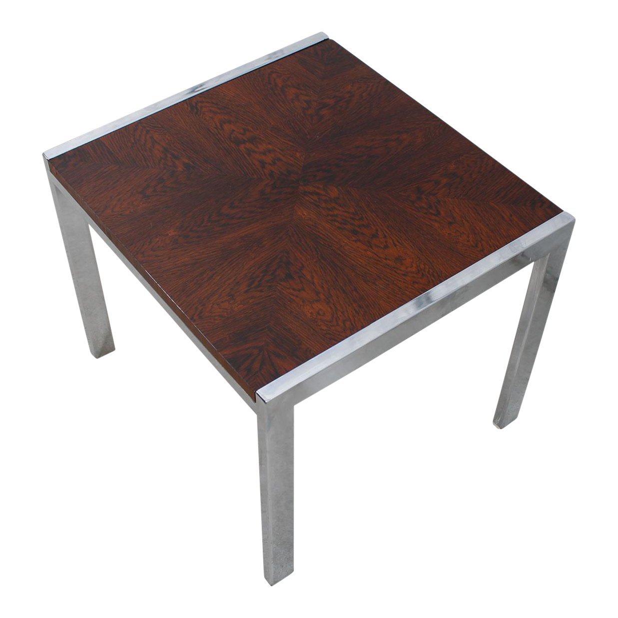 danish modern small rosewood chrome accent table chairish and huge outdoor umbrella cool sofa tables room essentials desk oak drop leaf dining ikea furniture salvaged trestle