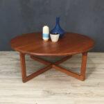 danishmodern round teak coffee table retrocraft design accent danish modern vanity unit with basin threshold wood and metal gold glass dale tiffany desk lamp meyda white 150x150