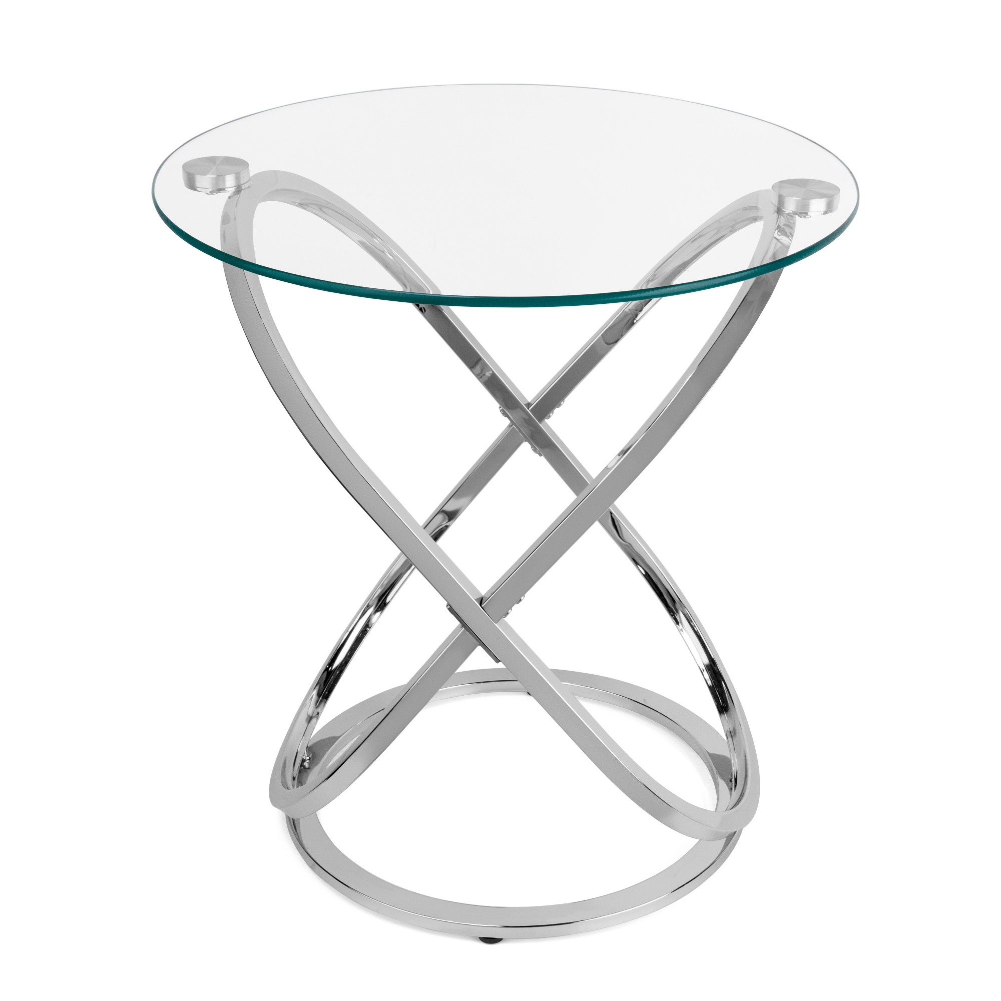 danya accent tables light chrome grey products glass contemporary trestle leg dining table round mirror target entry wicker rattan end black with lamp attached long console behind