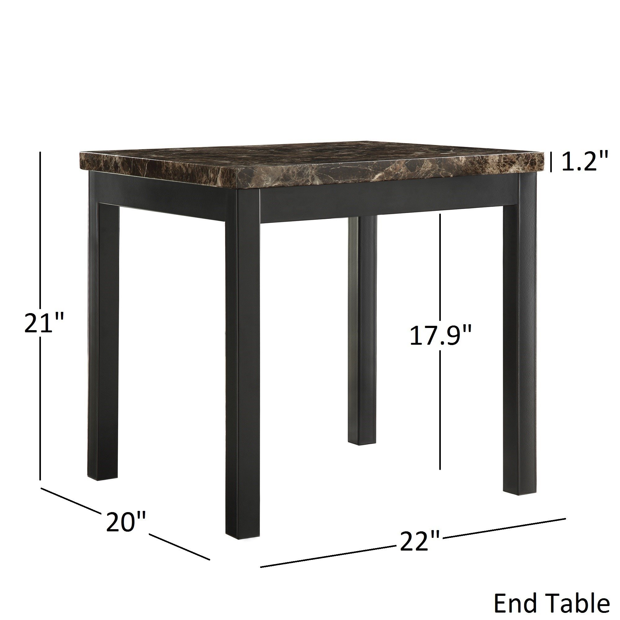 darcy piece metal and faux marble accent table set inspire bold free shipping today restaurant asian lamps runner placemats home decoration design gloss coffee unfinished chairs