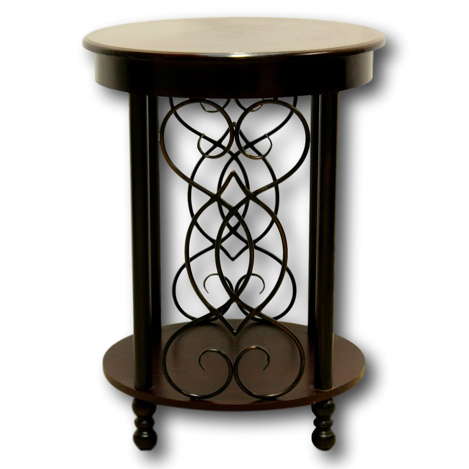 dark cherry metal accent table upscale consignment outdoor rustic furniture patio dining set modern lamps for living room copper home decor and accessories chair side with usb