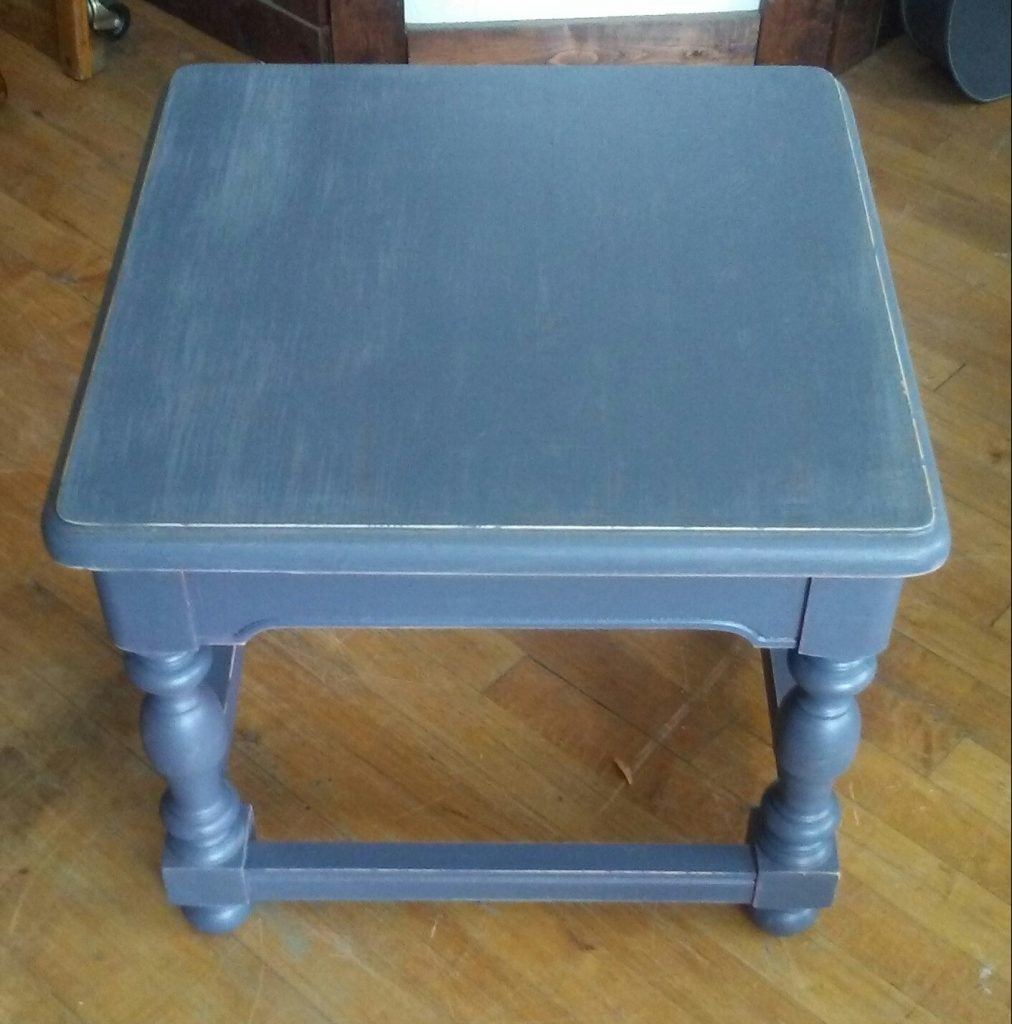 dark gray painted end table shabby chic accent for coffee and tables high tablecloth inch round office furniture metal patio umbrella stand glass top corner battery run lamps