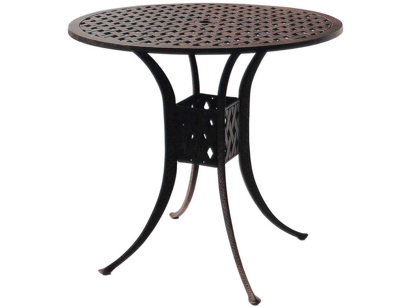 darlee outdoor living series antique bronze cast aluminum round accent table bar furniture cushions monarch hall console dark taupe elm wood coffee dining chairs vintage metal