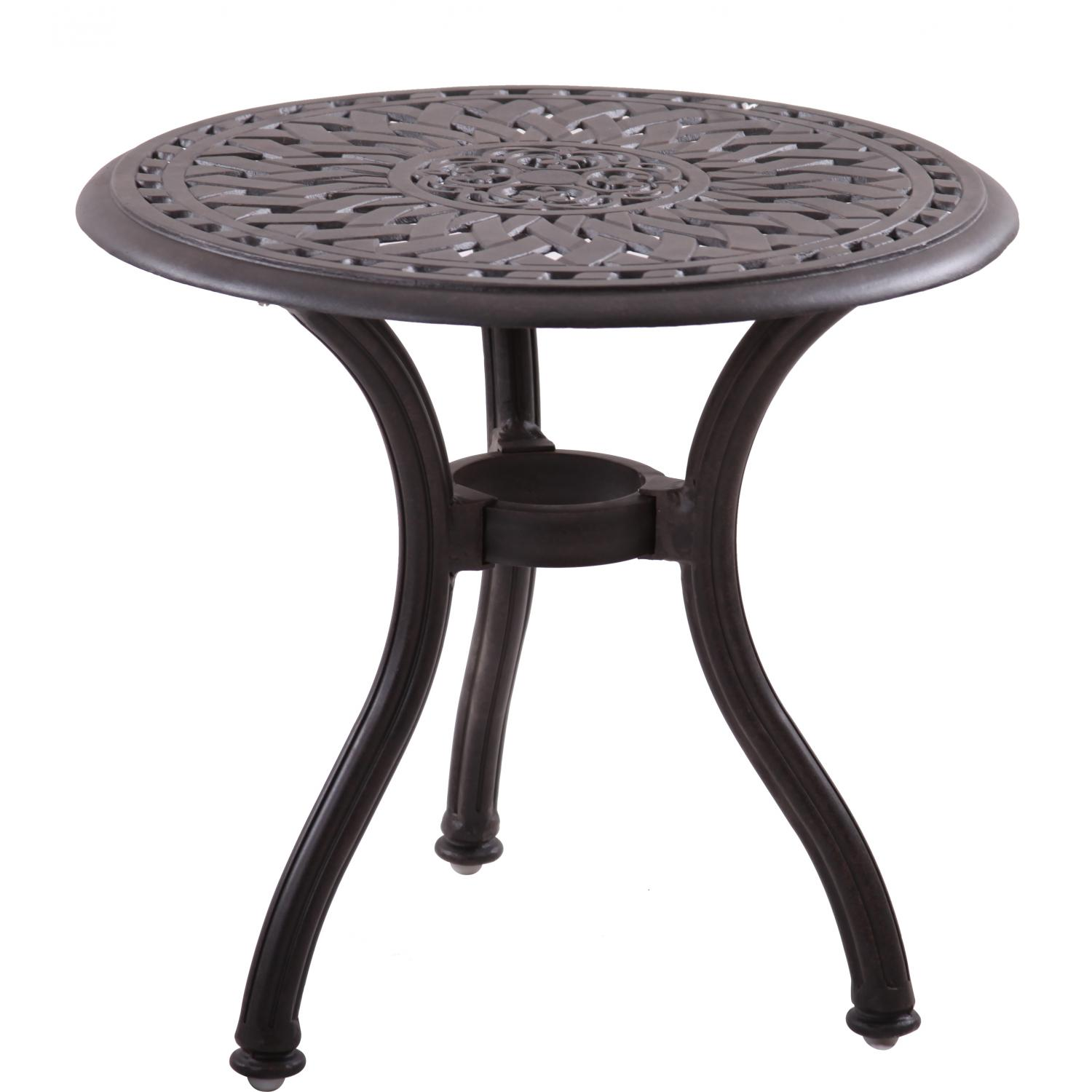 darlee series cast aluminum round patio end table antique outdoor side for bbq bronze guys barn door kitchen cabinets drop leaf dinette sets iron tables with glass tops decoration
