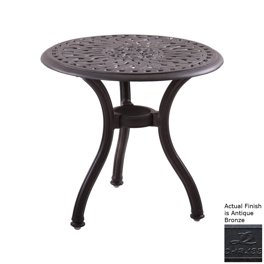 darlee series round end table metal patio accent tables target wood coffee yellow decorative accessories pier dishes threshold sofa rustic industrial side promo code legs agate