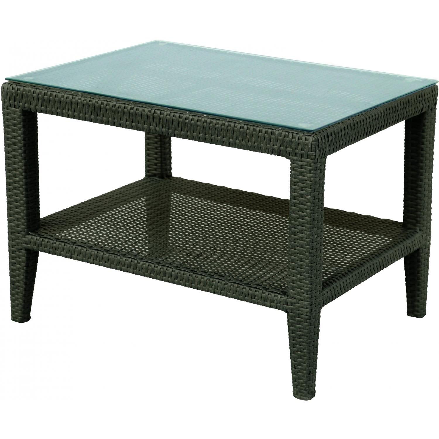 darlee vienna resin wicker patio side table with glass top outdoor entryway lamp metal garden battery powered living room lamps gold square coffee round tile grey console bar