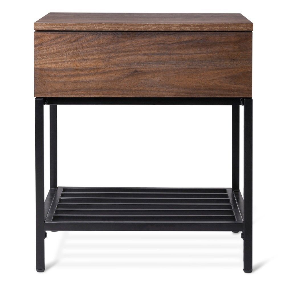 darley side table walnut brown threshold products home one drawer accent project tablecloth size for cocktail bathroom lighting pop coffee craft modern kitchen clocks gray nesting