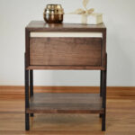 dayton walnut side table white accent thisisurbanmade coffee with gold and silver lamps pottery barn tabletop italian unique wall clocks round metal wood top jofran small storage 150x150