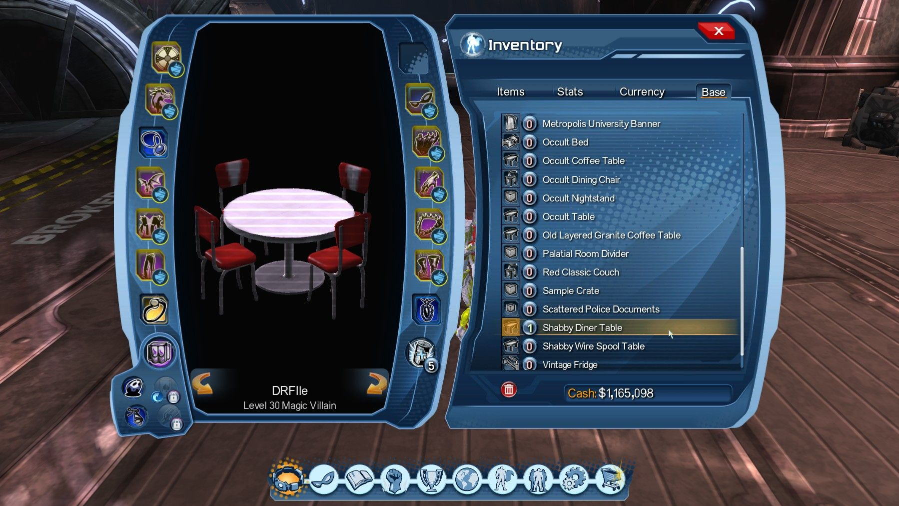 dcuo roulette table casino portal shabby diner furniture dcgame occult accent location kestell octagon poker with folding legs custom features our exceptionally durable sur loc