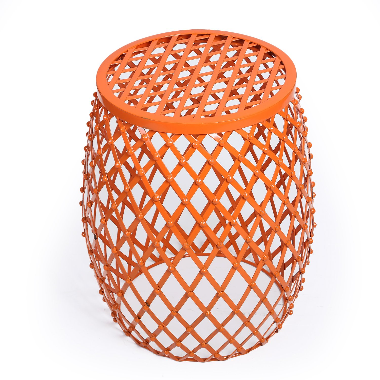 decenthome metal wire accent side table stool orange garden outdoor shabby chic chest drawers mirrored hall led lamp ceramic end tables white marble dining sofa with console