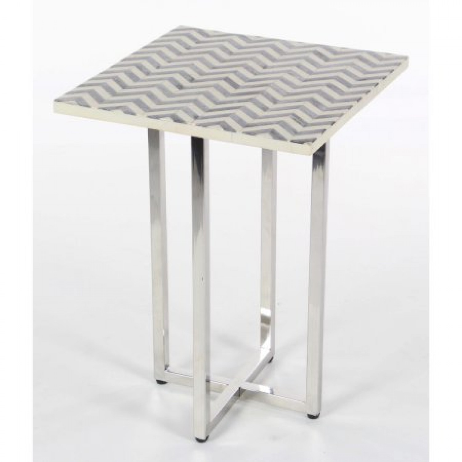 decmode contemporary inch square wood and bone chevron marvelous stainless steel inlay table accent patterned gray razer mouse ouroboros round tablecloth tiny patio furniture