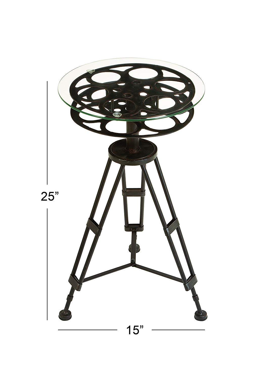deco metal glass accent table home round black kitchen matching night stands carved console maple top comfortable drum throne tiny silver occasional small leaf marble coffee