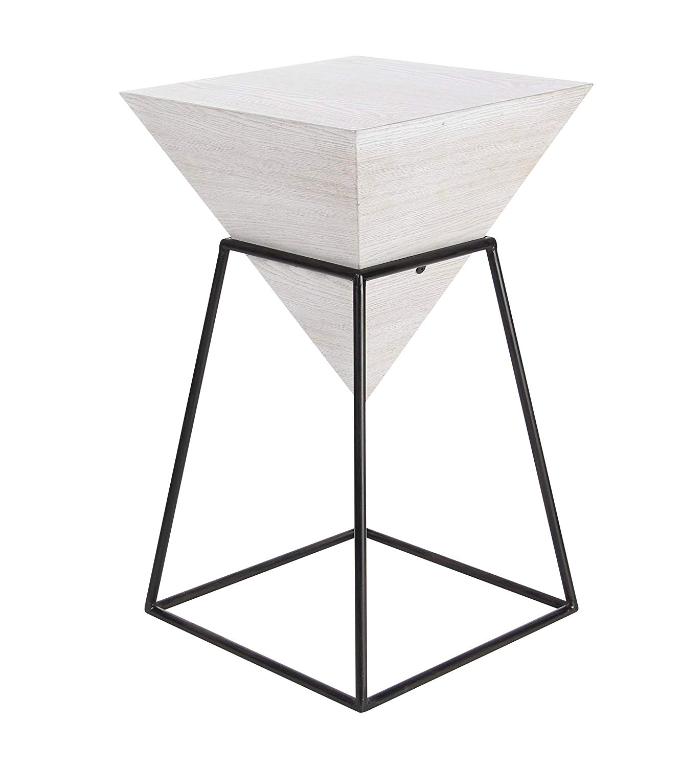 deco wood and metal square accent table quatrefoil gray black kitchen dining nate berkus side acrylic kids furniture stacking end tables stained glass bedroom chairs antique green