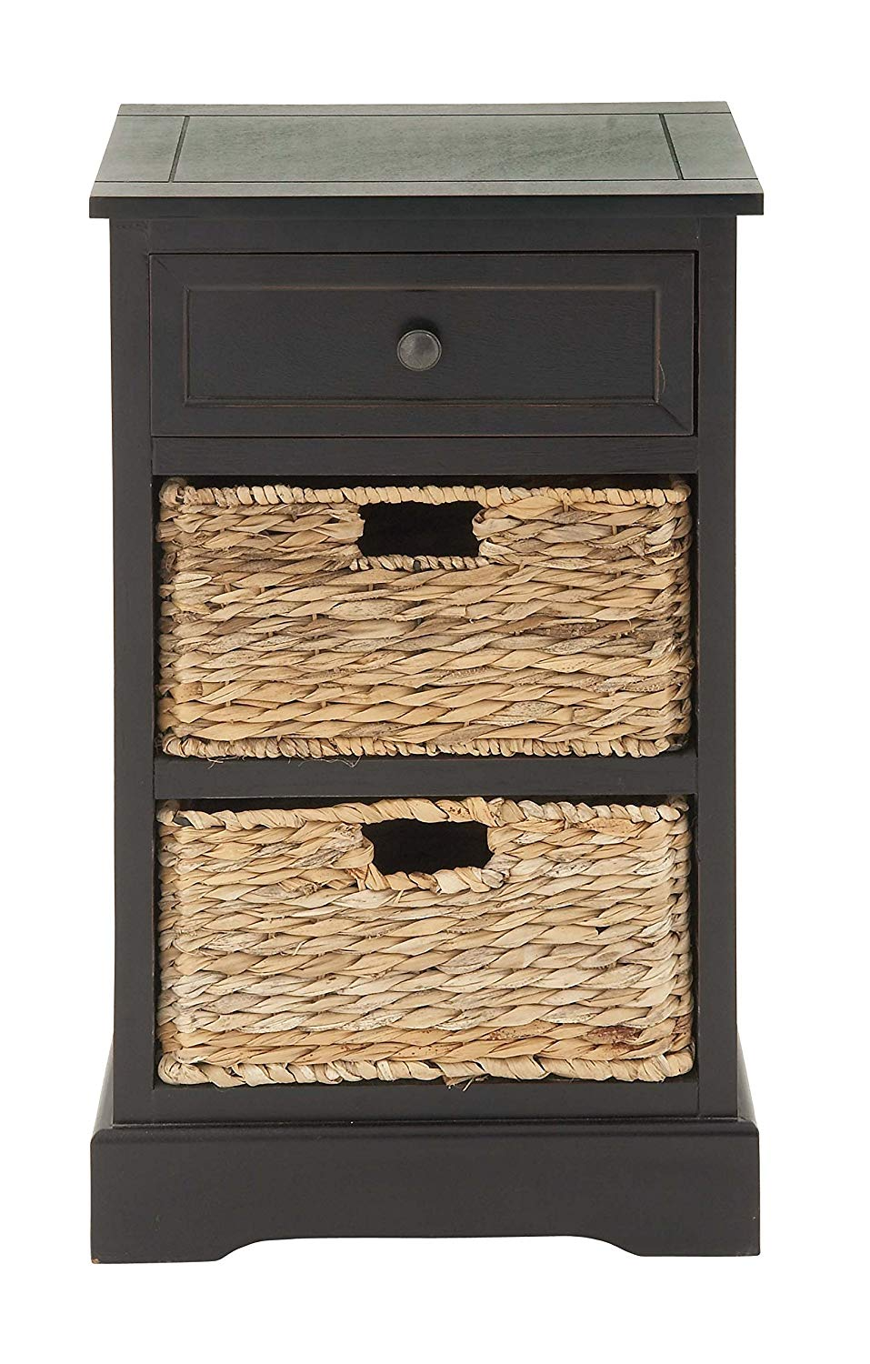 deco wood wicker basket side table foldable accent brown kitchen dining trestle top storage ott coffee ikea ethan allen lamps cast metal nate berkus dale tiffany mini inch square