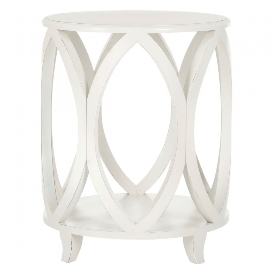 decor market janika round accent table shady white wood dining room top glass for bedroom side acrylic black makeup desk coffee silver runner metal design small garden antique
