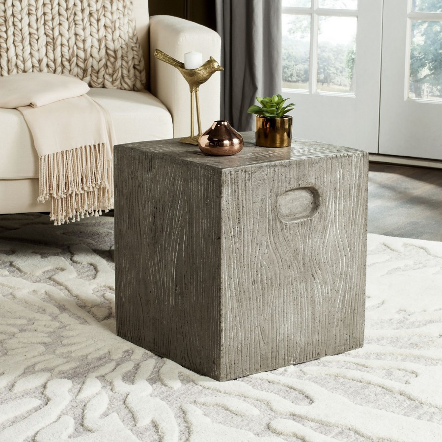decor market safavieh cube concrete accent table wood white marble round side battery powered lamps baby changing pad silver mirrored bedside tables small console chest black drum