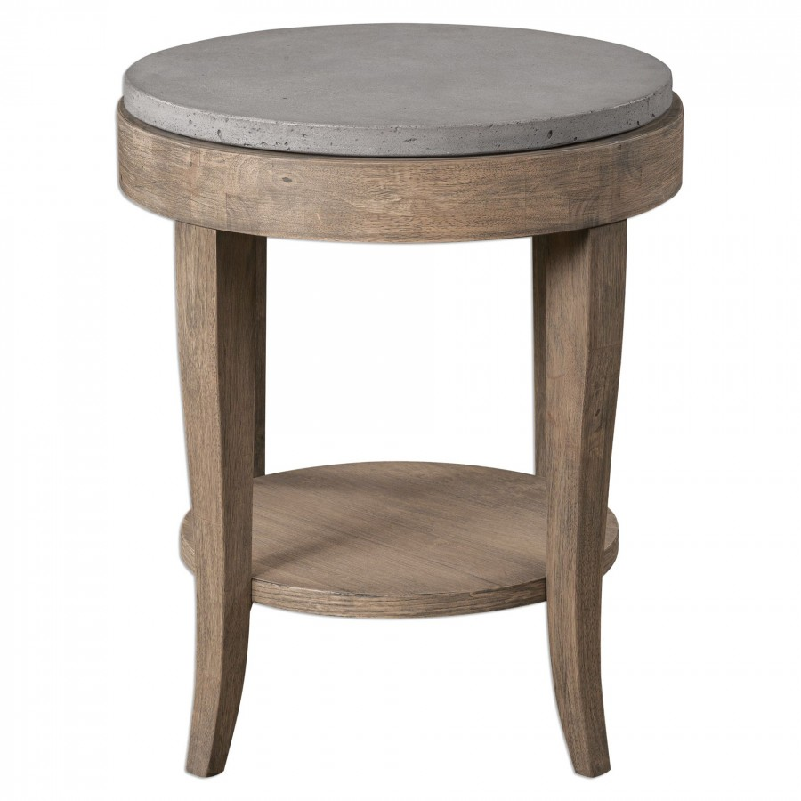 decor market uttermost deka round accent table antique furniture small tables orient lighting outdoor clearance laton mirrored broyhill side with usb white sliding door very slim