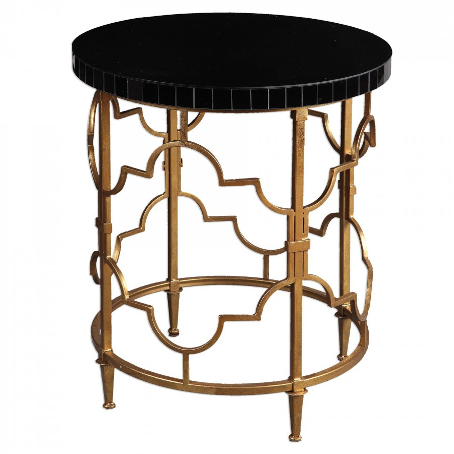 decor market uttermost mosi gold black accent table dice wicker storage baskets leather bean bag marble coffee and end tables red cloth copper lamp chairside ashley furniture