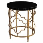 decor market uttermost mosi gold black accent table front porch bench inch square end nautical island lighting blue tables living room furniture home accents dishes cement base 150x150