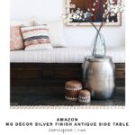 decor silver finish antique side table copycatchic madhus look for less gold hammered accent world market cala drum inch wide nightstand tall with shelves ethan allen drop leaf 150x150